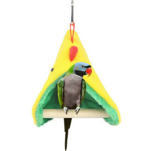 Pet Bird Parrot Warm Hammock Cage Hut Parakeet Budgie Tent Bed Hanging Cave