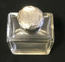 Antique sterling silver and crystal glass scent  bottle