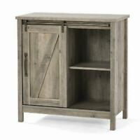 Rustic Gray Modern Farmhouse Accent Storage Cabinet Sideboard Table TV Stand NEW