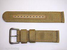Genuine 22mm Seiko Beige Nylon Strap Band WatchModel SNZG07 -Strap Model 4A214JL