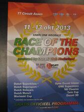 Programmaboekje Race of the Champions 11 - 13 oktober 2013 TT Circuit Assen