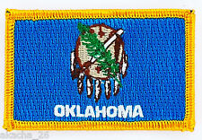 Ecusson Brodé PATCH drapeau Oklahoma AMERICAIN USA ETATS UNIS FLAG EMBROIDERED