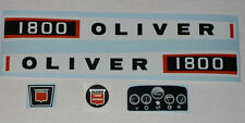 1800 OLIVER Pedal Tractor DECAL SET Ertl Toy FREE Ship Computer Cut
