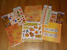 Thanksgiving Scrapbooking Kit #2 Paper Stickeres fall leaves scarecrow Sandylion