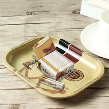 Small Metal Plate Tray Cigarette Tobacco Rolling Papers Raw Cigarette Rollers
