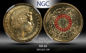 2015 AUSTRALIA 2 DOLLARS LEST WE FORGET NGC MS 65 #F ONLY 2 GRADED HIGHER