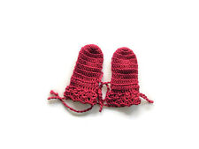 Preemie Red Crochet mitten gloves  for Baby, Newborn, reborn doll