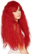 Rockstar Wigs Ariel Bright Red Long & Thick Wavy Wild Style Red Wig