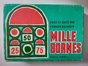 Ancien jeu de société Mille Bornes edition Edmond du Jardin Vintage complet