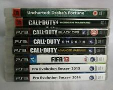 Sony Playstation 3 PS3 Game Bundle 8 Games, Uncharted, Call of Duty, Fifa, PES