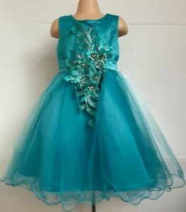 Jade Green Flower Girl Bridesmaid Wedding Prom Pageant Dance Party Dress 2-12y