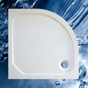 Duschbecken 900x900 mm bzw. 90x90 cm, R 500, Viertelkreis, flach