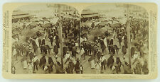 Underwood & Underwood Stereoview of the Open Air Market,Mexico City, Mexico 1901