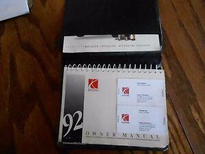92 Saturn Operators Manual