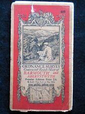 Vintage Ordnance Survey Folding Map - Barmouth & Aberystwyth - 1929 - Sheet 68