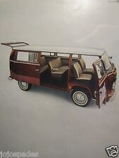 """1968 Volkswagen Bus Original Print Ad-Open Wide And Say Ahh-8.5 x 10.5"""""""