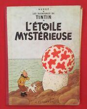 TINTIN L'ÉTOILE MYSTÉRIEUSE 10B27bis 1960 DOS ROUGE CASTERMAN HERGÉ BD Ref13