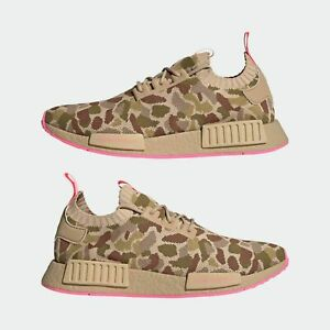 Adidas Originals NMD_R1 Primeknit Men's Running Shoes Duck Camo Pink G57940