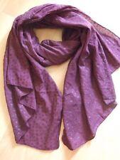 Becksöndergaard Schal Tuch scarf burgundy red rot star XL cotton
