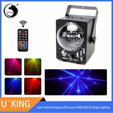 Mini RG Laser + RGB LED Magic Ball Light with Wireless Remote for DJ Disco Party
