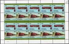 1977 Ludmila DR Class 130/142 (DB 230/242) Germany Diesel Train 20-Stamp Sheet