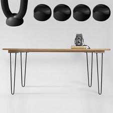 Melko® 4er Set Hairpin Legs Schwarz 30CM Tischbeine Haarnadelbeine Tischgestell