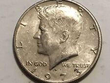 1973 D Kennedy Half Dollar error coin doubling reverse Wing, America & Half Doll