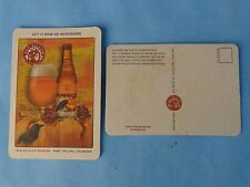 Beer Bar Coaster Postcard ~ NEW BELGIUM Brewing Pumpkick Ale ~ Now or Nevermore