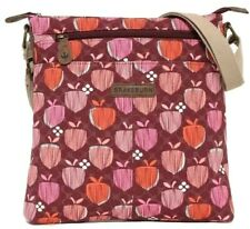 Brakeburn Bag Crossbody Red Pink Orange Acorn Print Ladies Oilcloth Shoulder Bag