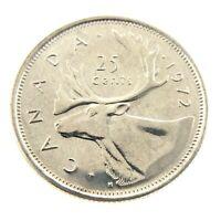 1972 Canada Twenty Five 25 Cents Nickel Quarter Brilliant Uncirculated Coin A250