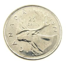 1972 Canada Twenty Five 25 Cents Nickel Quarter Brilliant Uncirculated Coin A250