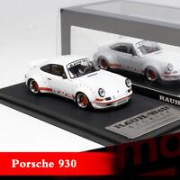 Model Collect 1:64 Porsche 930 RAUH-Welt Begriff RWB Works Duck Tail Car Model