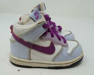 Nike Dunk High Sneakers Purple & White US Youth Child 7C