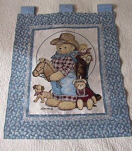 Teddy Bears Cowboys Indians Wild West Baby Childs Tapestry Wall Hanging NEW Cute