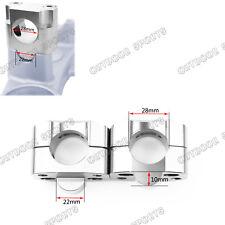 Taper Fat Handle Bar Riser Mount Clamps Riser Bore 28mm Base 22mm For Kawasaki