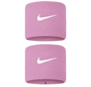 "NIKE Swoosh 2 1/2"" Tennis Wristband Pink/White Set of 2."