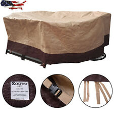 """72""""Outdoor Patio Yard Waterproof Oval/Rect Table Cover Case Furniture Protection"""
