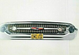 """25"""" HUGE 1957 Chevy car Bel Air 150 / 210 Grill Front End USA STEEL Sign Vtg 50s"""