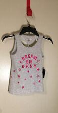 "DKNY Girl's Top Sparkle ""Dream Big"" Light Heather Gray Size 12 NWT"