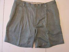 Tommy Bahama Green Silk Pleated Shorts 42 Mens