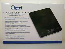 Ozeri Touch Digital Kitchen Scale 12 lbs Tempered Glass in Black ZK013