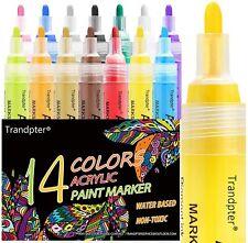 Paint Pens for Rock Painting, Acrylic Paint Markers, Acrylic Pen, 14 Colors