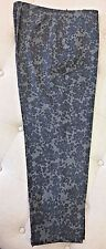 PIAZZA SEMPIONE Lightweight Wool Gray on Gray Floral Sabina Pants - Size 48