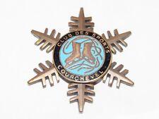 02E17 ANCIENNE BROCHE BADGE INSIGNE ÉMAILLÉ SKI ESF CLUB DES SPORTS COURCHEVEL