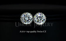 Multi Prongs 8mm 2ct Top Quality Cubic Zirconia Stud Earring