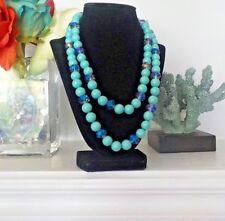 "Heidi Daus 42"" Long Turquoise Beaded Necklace."