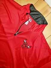 Mens Majestic Chicago Bulls 1/4 Zip Pullover Size 2XLT Tall 2XL NBA New NWT