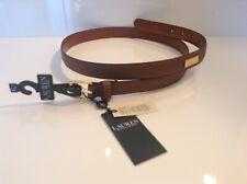 100 Auth Iro Ladies Genuine Leather Brown Belt. 80