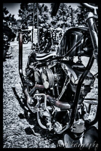12x18 in. Motorcycle Poster Vintage Harley Davidson Chopper Garage Man Cave