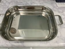 New listing All-Clad 12X14 Heavy Stainless Roasting Baking Lasagna Pan New!